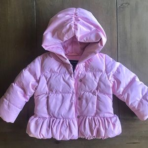 Ralph Lauren girl down jacket 18M light pink